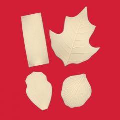 FMM Moldes Set de Texturizadores Nervaduras Hojas 5-8
