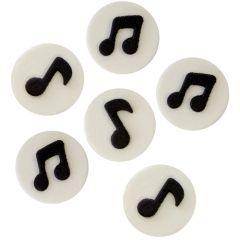 PME Decoraciones Comestibles - Notas musicales, 6 ud.