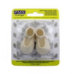 PME Topper Comestible Zapato Bebé Blanco Perlado