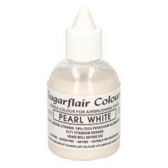 Sugarflair Airbrush Colouring -Glitter Pearl White- 60 ml