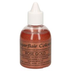 Sugarflair Airbrush Colouring -Glitter Rose Gold- 60ml