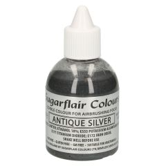 Sugarflair Airbrush Colouring -Glitter Antique Silver- 60ml