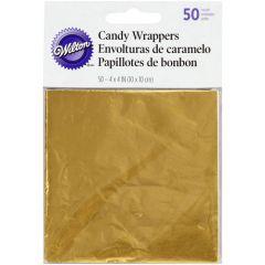 Wilton Foil Wrappers Gold pk/50