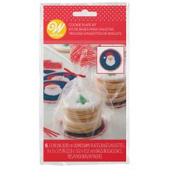Wilton Mini Cookie Plate Kit Santa Claus pk/6
