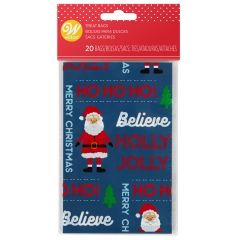 Wilton Mini Treat Bags Ho Ho Ho pk/20