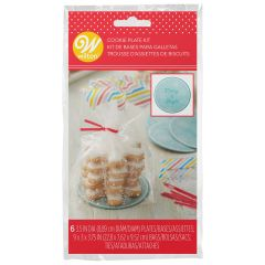 Wilton Mini Cookie Plate Kit Snowflake pk/6