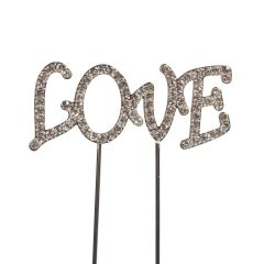 Cake Star Cake Topper Diamante Love