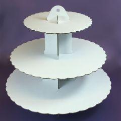Culpitt Stand o Expositor para Cupcakes Blanco de 3 pisos