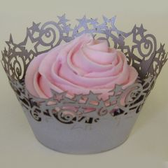 PME Stars Cupcake Wrappers Silver pk/12