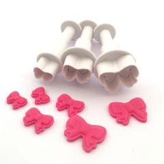 Dekofee Mini Plungers Bows set/3
