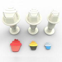 Dekofee Mini Plungers Cupcake set/3