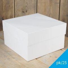 FunCakes Cake Box - White - 25x25x15cm- pk/25