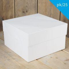 FunCakes Cake Box - White - 33x33x15cm- pk/25