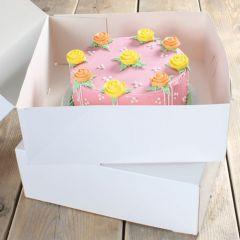 FunCakes Cake Box - White - 32x32x11.5cm- pk/2