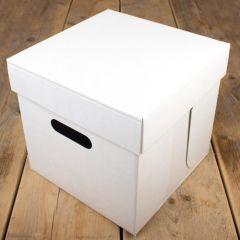 FunCakes Cake Box - White - 25.5x25.5x25cm- pk/1