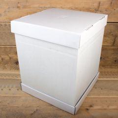 FunCakes Cake Box - White - 37x37x45cm- pk/1