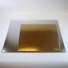 FunCakes Cake Card Gold/Silver -Square- 20cm pk/100