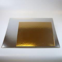 FunCakes Cake Card Gold/Silver -Square- 35cm pk/100
