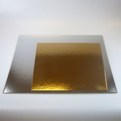 FunCakes Cake Card Gold/Silver -Square- 35cm pk/3