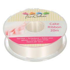FunCakes Cake Ribbon -Ivory- 25mmx20m