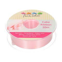 FunCakes Cake Ribbon -Pink- 25mmx20m
