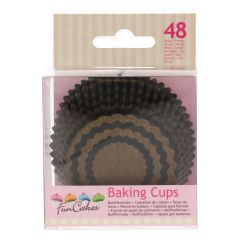 FunCakes Baking Cups -Chevron Gold- pk/48