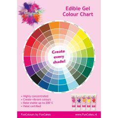 FunCakes Edible FunColours Colour Chart