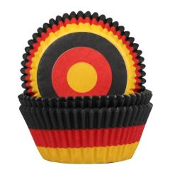 House of Marie  Baking Cups Flag Germany pk/50