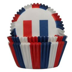 House of Marie Baking Cups Flag France pk/50