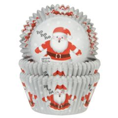 House of Marie Baking Cups Santa pk/50