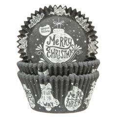 House of Marie Baking Cups Christmas Bauble pk/50