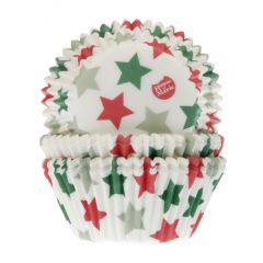 House of Marie Baking Cups Star pk/50