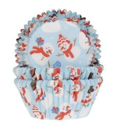 House of Marie Baking Cups Snowman pk/50