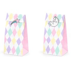 PartyDeco Treat Bags Unicorn Set/6