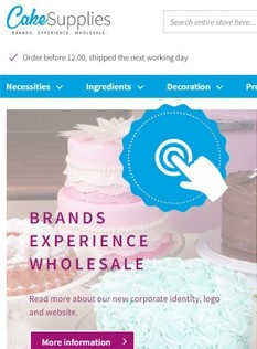 CakeSupplies site: the story continues!