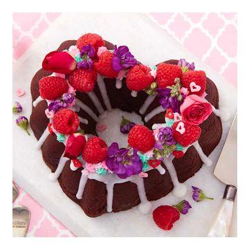 cake met bloem